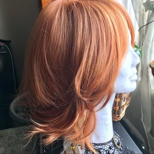 Red head wig Open cap with adjusters